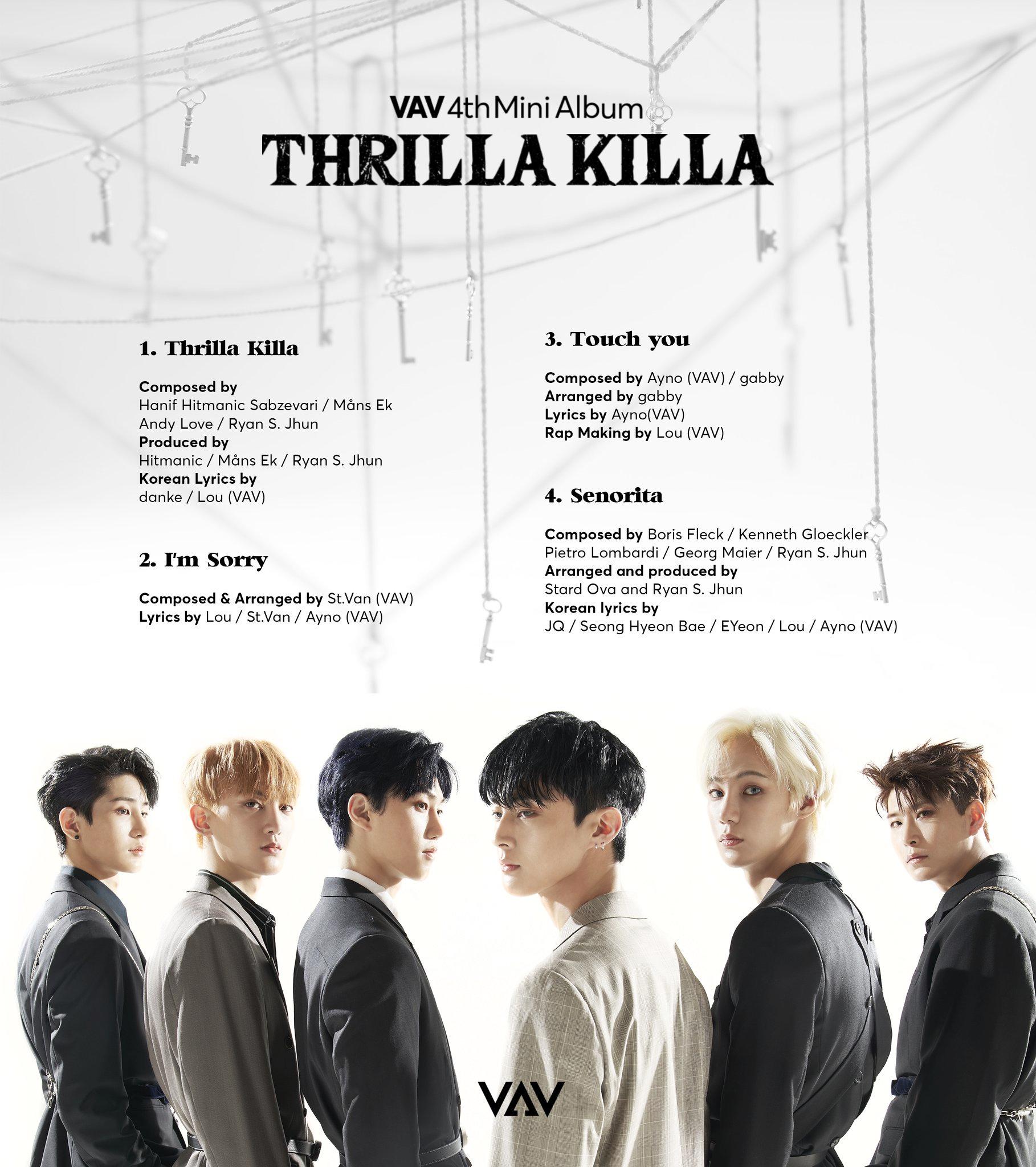 VAV Thrilla Killa tracklist.png