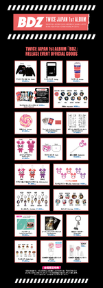 TWICE BDZ release event official goods