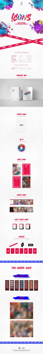 HOT ISSUE Icons album packaging