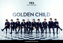 Golden Child Yes. group concept photo