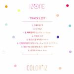 IZONE Color IZ track list