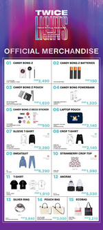 TWICE TWICELIGHTS Manila merchandise 1