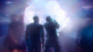 Seg-El breaks through a wormhole