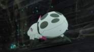 Kumoko escaping from the threats anime ep3
