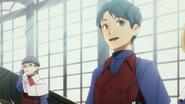 Male classmate greeting Shun anime 2021 ep5