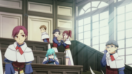 2 female classmates greeting Shun anime 2021 ep5