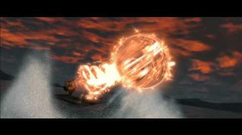 Battle between Po and Shen's fleet
