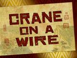 Crane on a Wire