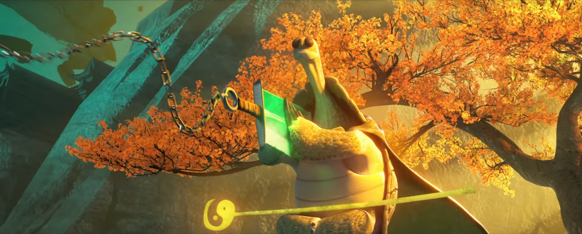 Oogway catches Kai's Blade.png