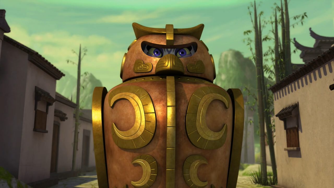 Owl-shaped cage