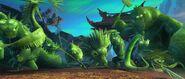 Jade zombies at the Panda Village