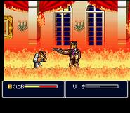 Kunio vs. Sabu in Kunio-tachi no Banka