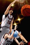 Kagami dunks