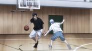 Kuroko and Aomine training together