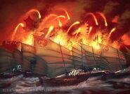 Fire on the Sea by Steve Argyle