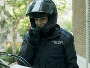Tokyo habillée en policière