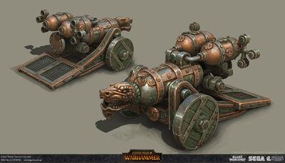 Cañón lanzallamas warhammer total war por Michal Gutowski.jpg