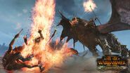 Elfo oscuro manticora warhammer total war