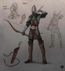 Warhammer age of reckoning conceptart Guerrero Sombrio 02 Altos Elfos