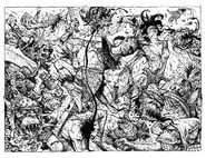 Bailarines Guerreros Batalla por Russ Nicholson