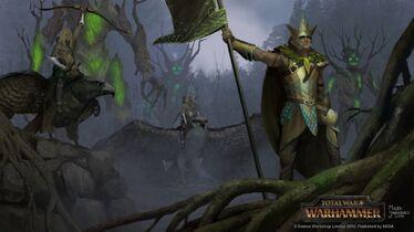 Guardianes del bosque Elfos Silvanos por Milek Jakubiec Warhammer Total War.jpg