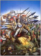 Portada libro de ejército Mercenarios por David Gallagher