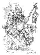 Boceto Héroe Goblin Nocturno por Mark Gibbons