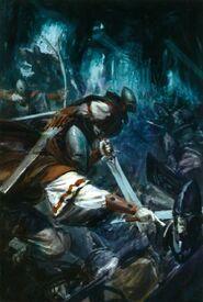 Guerreros Sombríos contra Elfos Oscuros
