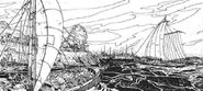 Ciudad de Marienburgo barcos por Russ Nicholson