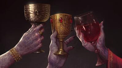 Vampiros brindando arte Warhammer Total War.png