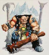 Ogro Warhammer Quest por Dave Gallagher
