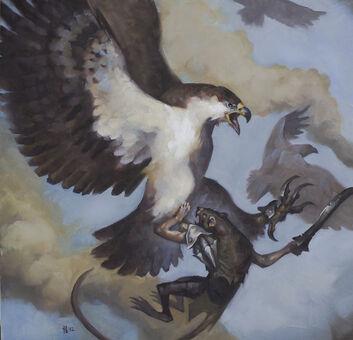 Águila con Garras de Hierro por Tom Babbey Águila Gigante.jpg