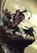 Portada Espada de Disformidad Malus Darkblade por Clint Langley