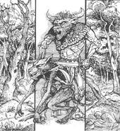 Hombres bestia por Russ Nicholson