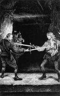 Orfeo enfrentándose a Estevan Sceberra por Martin McKenna
