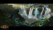 Cascada camino magico hombres lagarto warhammer total war por Stoyan Stoyanov