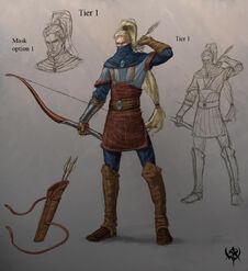 Warhammer age of reckoning conceptart Guerrero Sombrio 01 Altos Elfos
