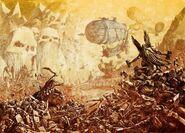 Batalla Enanos contra Orcos y Goblins por Dave Gallagher