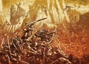 Batalla Imperio contra Orcos y Goblins por Dave Gallagher