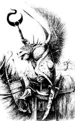 Paladín del tzeentch con alas por Bill Thorhill.png