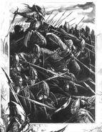 Regimiento de Lanceros Elfos Oscuros por Dave Gallagher