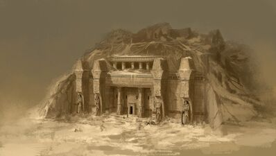 Entrada templo Nehekhara por Daarken Reyes Funerarios.jpg