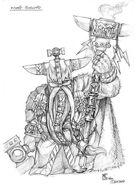 Boceto Señor de las Runas por Mark Gibbons