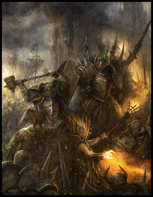 Warhammer Rol por Daarken Guerra Caos Guerreros Imperio Enanos.jpg