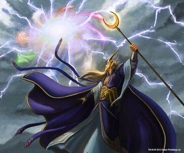 Gathering the Winds by Adam Lane Mago Alto Elfo Alta Magia.jpg