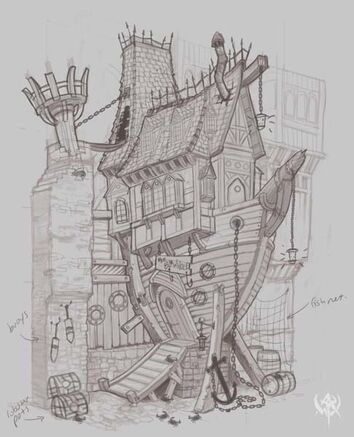 Warhammer age of reckoning conceptart 87WOQ Edifico Barco Imperio.jpg