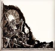 Dibujo cazadores de brujas mordheim