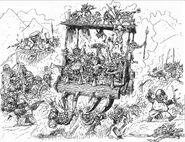 Vagoneta de Ataque Snotling por Russ Nicholson