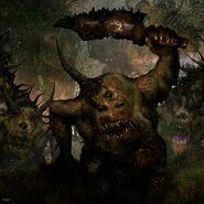 Warhammer art 40k- Nurgletes por Clint Langley