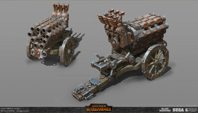 Cañón de salvas warhammer total war por Michal Gutowski.jpg